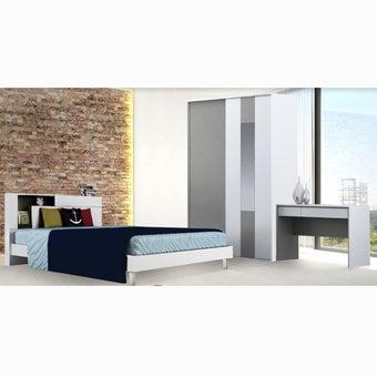 ชุดห้องนอน ขนาด 5 ฟุต รุ่น Spazz สีขาว01