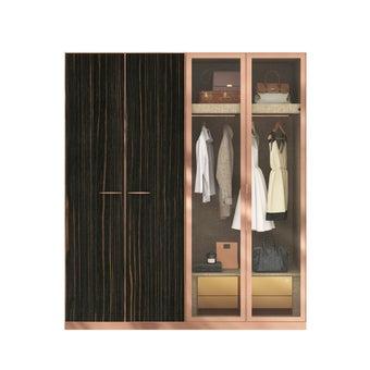 ตู้เสื้อผ้า ขนาด 200 ซม. รุ่น Wardrobe Plus สีไม้เข้ม1