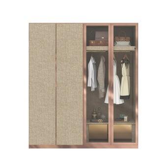 ตู้เสื้อผ้า ขนาด 200 ซม. รุ่น Wardrobe Plus สีไม้อ่อน2