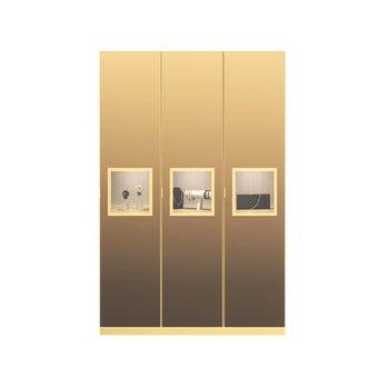 ตู้เสื้อผ้า ขนาด 150 ซม. รุ่น Wardrobe Plus สีทอง1