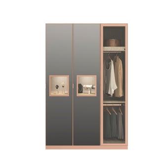ตู้เสื้อผ้า ขนาด 150 ซม. รุ่น Wardrobe Plus สีเทา1