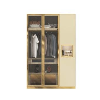 ตู้เสื้อผ้า ขนาด 150 ซม. รุ่น Wardrobe Plus สีครีม2