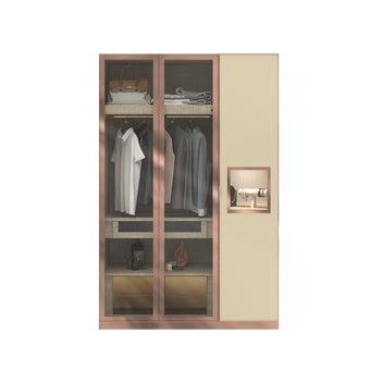 ตู้เสื้อผ้า ขนาด 150 ซม. รุ่น Wardrobe Plus สีครีม1