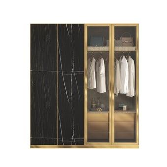 ตู้เสื้อผ้า ขนาด 200 ซม. รุ่น Wardrobe Plus สีดำ1