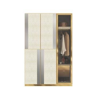 ตู้เสื้อผ้า ขนาด 150 ซม. รุ่น Wardrobe Plus สีไม้อ่อน2