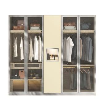 ตู้เสื้อผ้า  ขนาด 250 ซม. รุ่น Wardrobe Plus สีไม้อ่อน1