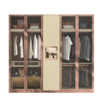 ตู้เสื้อผ้า  ขนาด 250 ซม. รุ่น Wardrobe Plus สีไม้อ่อน2