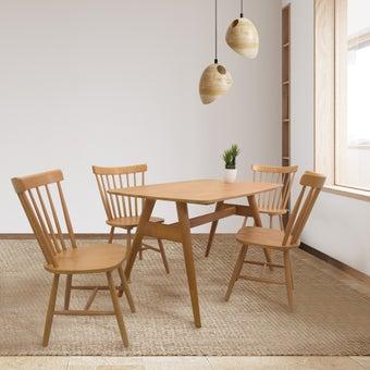 ชุดโต๊ะอาหาร รุ่น Yalene สีไม้อ่อน01