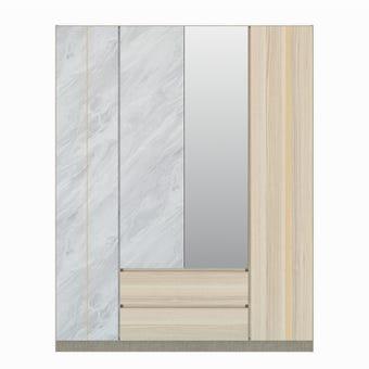 ชุดห้องนอน ตู้เสื้อผ้าบานเปิด รุ่น Marmurus สีสีอ่อน-SB Design Square