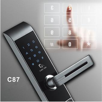 อุปกรณ์รักษาความปลอดภัยภายในบ้าน กลอนประตูดิจิตอล สีสีดำ-SB Design Square