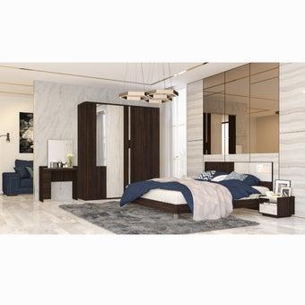 ชุดห้องนอน ขนาด 6 ฟุต รุ่น Econi-B สีเข้มลายไม้ธรรมชาติ 03