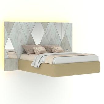 เตียงนอน ขนาด 5 ฟุต รุ่น Arbalone (LED)