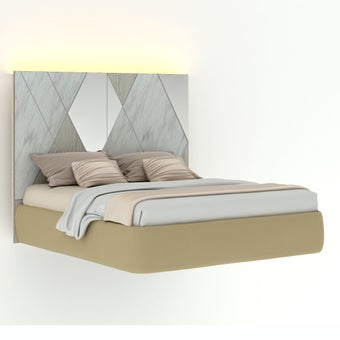 เตียงนอน ขนาด 6 ฟุต รุ่น Arbalone (LED)-01
