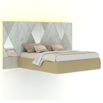 เตียงนอน ขนาด 6 ฟุต รุ่น Arbalone (LED)