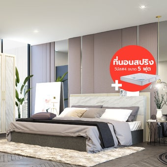 ชุดห้องนอน ขนาด 5 ฟุต รุ่น Florence สีขาว01