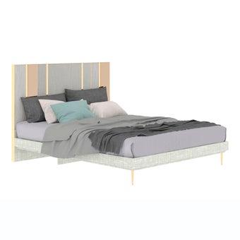 เตียงนอน ขนาด 5 ฟุต รุ่น The Emperor (No LED) ลายไม้สีอ่อน-01