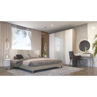 ชุดห้องนอน ขนาด 6 ฟุต รุ่น Ezra สีขาว-00