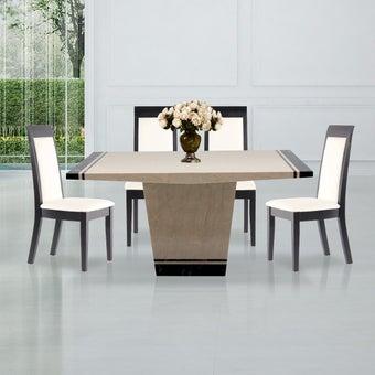 ชุดโต๊ะอาหาร รุ่น Famira & เก้าอี้ รุ่น Setna#3 สีครีม01