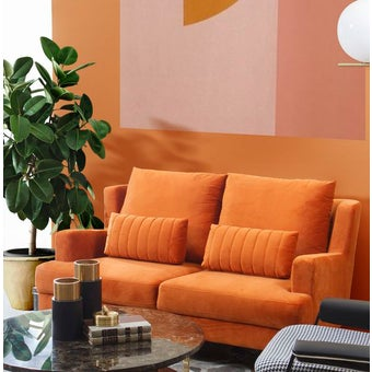 โซฟาผ้า 2 ที่นั่ง Lawanna สีส้ม-00