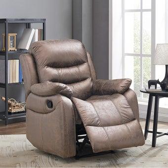 เก้าอี้พักผ่อนผ้า เก้าอี้พักผ่อน 1 ที่นั่ง รุ่น Miku สีสีน้ำตาล-SB Design Square