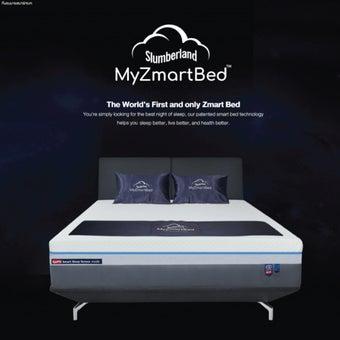 Slumberland เตียงนอนอัจฉริยะพร้อมที่นอนเมเมมโมรี่โฟม MyZmartBed ขนาด 6 ฟุต