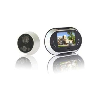 อุปกรณ์รักษาความปลอดภัยภายในบ้าน กล้องตาแมว สีสีดำ-SB Design Square