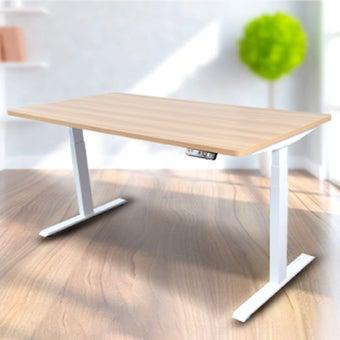 Bewell โต๊ะทำงานปรับระดับอัตโนมัติ WH140-OAK  ขนาด 140 ซม. สีโอ๊ค