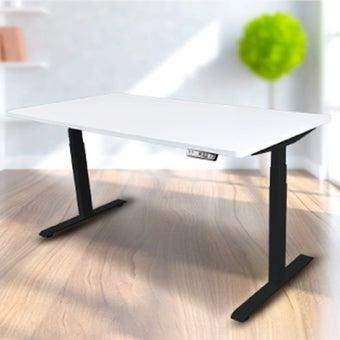 Bewell โต๊ะทำงานปรับระดับอัตโนมัติ  BK160-WH ขนาด 160 ซม. สีขาว