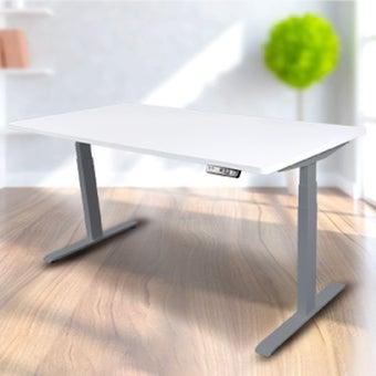 Bewell โต๊ะทำงานปรับระดับอัตโนมัติ GY160-WH  ขนาด 160 ซม. สีขาว