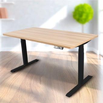 Bewell โต๊ะทำงานปรับระดับอัตโนมัติ BK140-OAK ขนาด 140 ซม. สีโอ๊ค