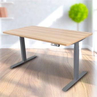 Bewell โต๊ะทำงานปรับระดับอัตโนมัติ GY140-OAK  ขนาด 140 ซม.  สีโอ๊ค