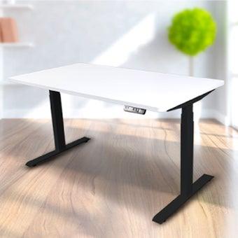 Bewell โต๊ะทำงานปรับระดับอัตโนมัติ BK140-WH ขนาด 140 ซม. สีขาว