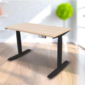 Bewell โต๊ะทำงานปรับระดับอัตโนมัติ BK120-OAK ขนาด 120 ซม. สีโอ๊ค