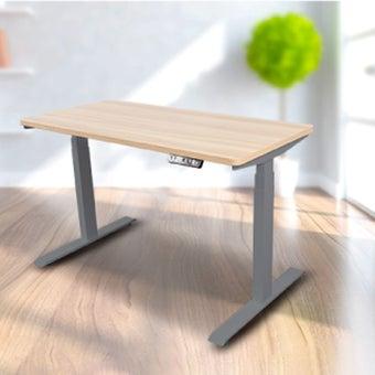 Bewell โต๊ะทำงานปรับระดับอัตโนมัติ GY120-OAK ขนาด 120 ซม. สีโอ๊ค