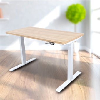 Bewell โต๊ะทำงานปรับระดับอัตโนมัติ  WH120-OAK ขนาด 120 ซม.  สีโอ๊ค