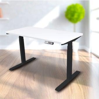 Bewell โต๊ะทำงานปรับระดับอัตโนมัติ BK120-WH  ขนาด 120 ซม. สีขาว