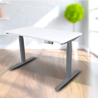 Bewell โต๊ะทำงานปรับระดับอัตโนมัติ GY120-WH ขนาด 120 ซม.สีขาว
