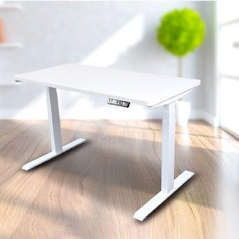 Bewell โต๊ะทำงานปรับระดับอัตโนมัติ WH120-WH ขนาด 120 ซม. สีขาว