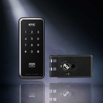 กลอนประตูดิจิตอล Digital Door Lock รุ่น Touch hook สำหรับ บานเลื่อน-02